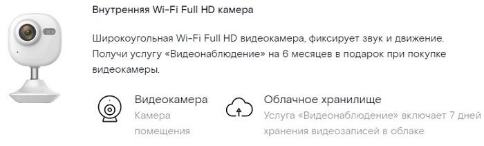 видеокамера WI-FI Full HD для видеоняни